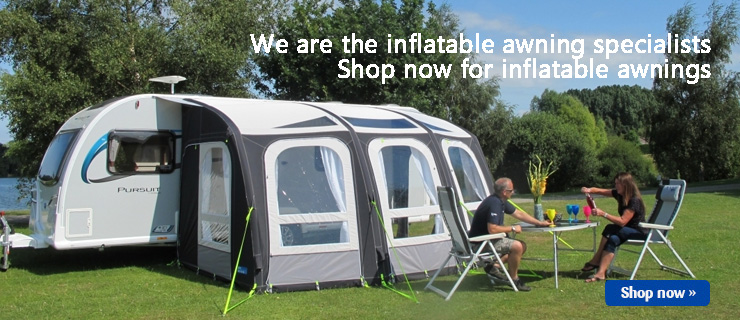 Massive range of inflatable awnings for caravans and motorhomes