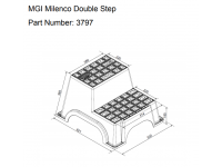 Milenco Double Plastic Step