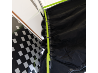 Adjustable awning tunnel