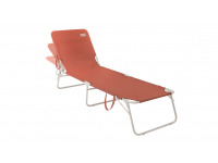 1091679 Tenby Warm Red Lounger Outwell