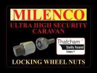 Milenco Locking Wheel Nuts Caravans