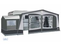 Dorema Garda 240 De Luxe with optional tall annexe with pointed roof fitted