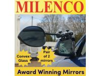Milenco Aero3 Towing Mirrors - Standard (Convex) Glass award winning mirrors