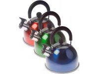 Kampa Brew 2L Whistling Kettle - Green/Red/Blue