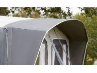 The rounded canopy in Ventura Air Trinus W400 Caravan Awning