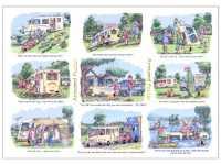 A5 Caravan Greeting Card