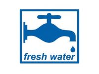 Fresh water sticker
