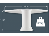 Compact Roof Mounting The compact size occupies minimal roof space, allowing it to be mounted in almost any position.