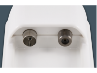 F/Coaxial connection - The coaxial cable routes into the weatherproof housing and terminates into an F and/or coaxial connection, overcoming the need to route cables through windows and doors for TV/radio access.