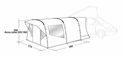 Technical Illustration of Easy Camp Motor Tour Wimberly Awning