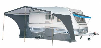 Dorema Panorama Sun Canopy with both side panels zipped out