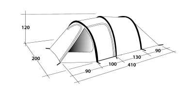 Technical Illustration of Outwell Earth 3 Poled Tent