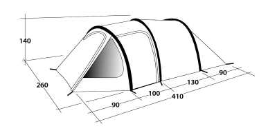 Technical Illustration of Outwell Earth 5 Poled Tent