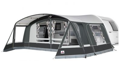 Dorema Grande Octavia awning with optional Sun Wings fitted