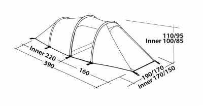 Technical Illustration of Robens Pioneer 3EX Tent