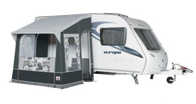 Quattro 225 Caravan Porch Awning in charcoal/grey