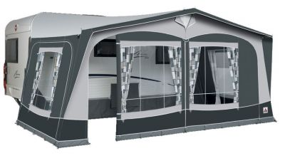 Dorema President 250 Caravan Awning in Charcoal/grey