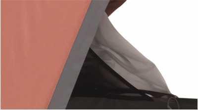 Robens Arrow Head Tent's storage pockets in inner door