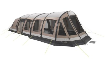 Outwell Harrier 6 Smart Air Tent with optional Front Awning fitted.