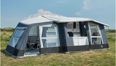 Isabella Air Cirrus North 400 with the optional annexe fitted