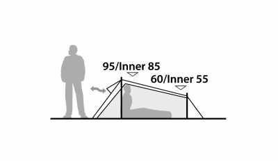 Technical Illustration of Robens Arrow Head Tent