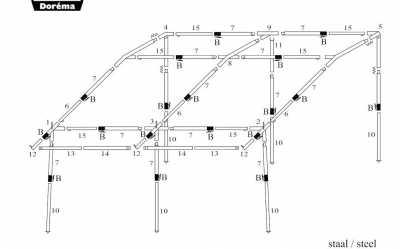 Dorema Quattro 430 porch awning frame