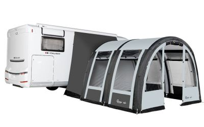 Dorema Traveller Air XL KlimaTex Motorhome Awning in Charcoal/Grey