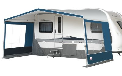 Dorema Canopy Vario with side panels with windows.