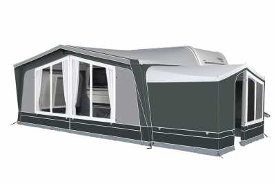 Dorema Emerald 270 Full Awning with the optional Annexe De Luxe XL fitted