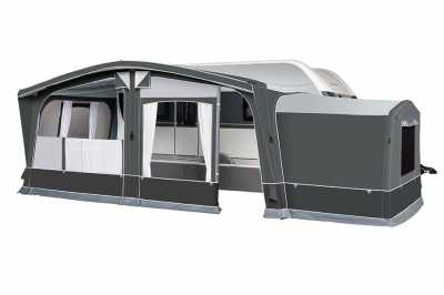 Dorema AIR Annexe on the side of Octavia AIR (awning not included)
