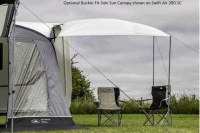 SunnCamp Dash Air 220 SC with optional canopy