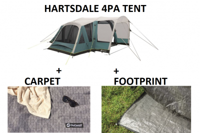 Outwell Hartsdale 4 Prime AIR Tent BUNDLE