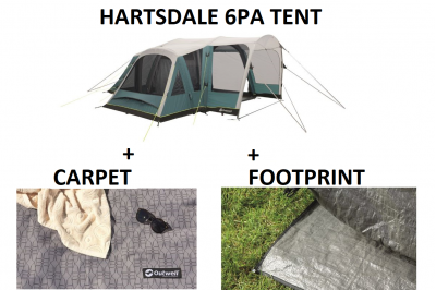 Outwell Hartsdale 6 Prime AIR Tent BUNDLE