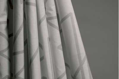 Luxor Grey curtains come with Ventura Pacific as standard