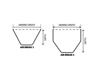 Technical Diagram of Kampa AIR Windbreak All-Season 3 & 5