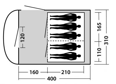 Dimensions of Easy Camp Hurricane 500 Air Tent