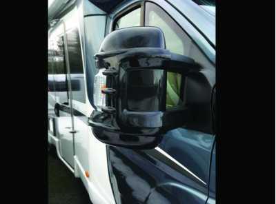 Mirror Protectors Black Long Arm x 2