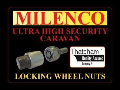Bailey Caravan Locking Wheel Nuts