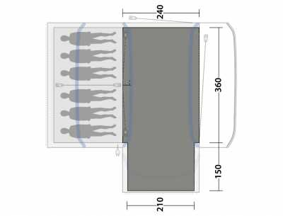 Flat-woven carpet dimensions