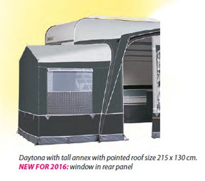 Optional pointed roof annexe for Dorema Daytona caravan awning