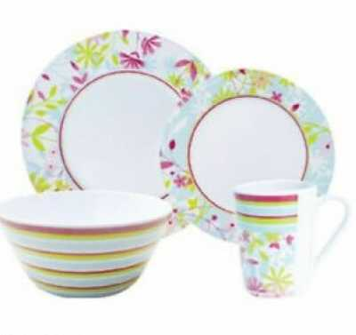 16 Piece Melamine Dinner Set
