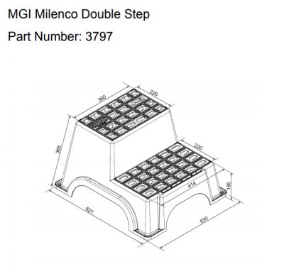 Milenco Double Plastic Step