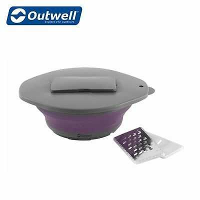107688 Collaps Plum Bowl with Lid and Grater