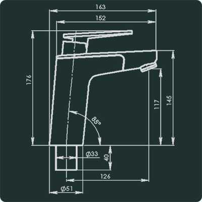 Vector E5 Mixer Faucet Chrome