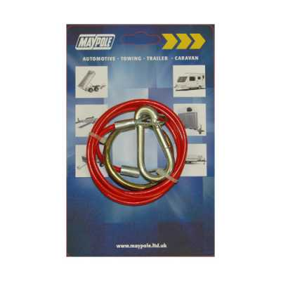 1m X 2mm Red Breakaway Cable