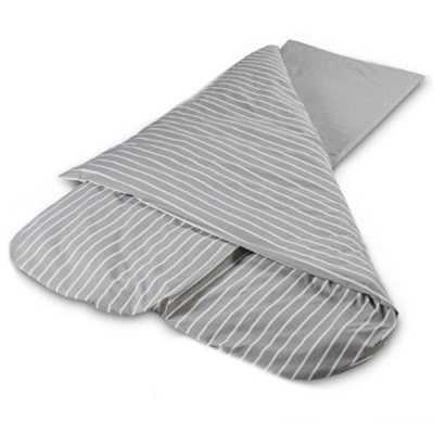 Grey Stripe Compact Duvalay 4.5 Tog Sleeping Bag