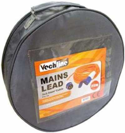Vechline Mains Extension Lead 25M/Zipped Carry Bag
