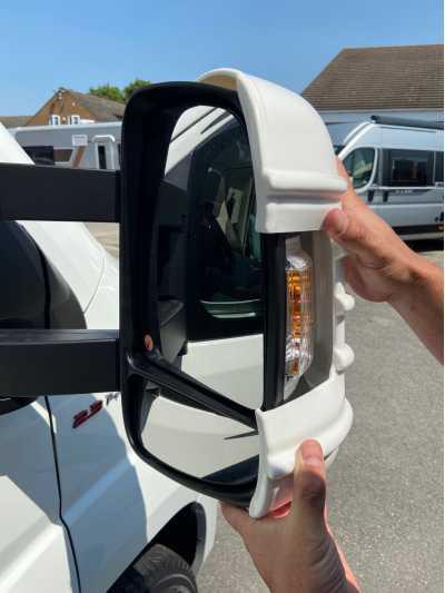 Mirror Protectors White Long Arm x 2