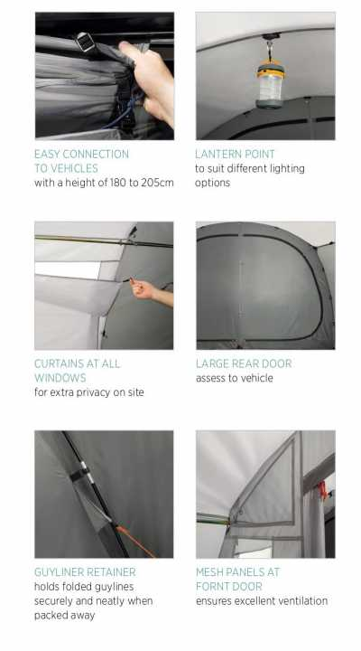 Features of Easy Camp Motor Tour Range